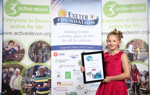 Performances in Community Sport Nominees, Felicity Ayre during the Exeter Foundation Devon Sports Awards at Sandy Park, Exeter, Devon on 30 June. - PHOTO mandatory by-line: Phil Mingo/PPAUK